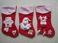 Socks Christmas decoration pendant christmas gift bag quality applique christmas socks