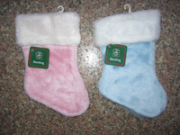 10 pcs/lot Christmas gift bag Christmas decoration christmas gift bags plush christmas socks quality christmas socks