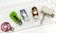 Retail 8GB the marvel Avengers USB Flash Drives thumb pen drives memory stick Hulk Thor Captain America Iron man + Free shipping