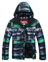 2013 hot selling mens burton waterproof thermal windproof ski jacket green snowboarding jacket lightweight ski parka men skiwear