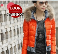Free Shipping 2013 Short Cotton Jacket Hot Sale New Arrive Parkas Women Fashion Women Coat Winter 7033