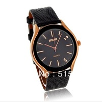 SINOBI 9220 Square Dial PU Leather Band Men's Analog Wrist Watch men's watches