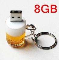 Free shipping New! Genuine 1GB,2GB,4GB,8GB,16GB,32GB Capacity Cup Beer USB 2.0 Flash Memory Stick Pen Drive