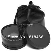 freeshipping 100% GUARANTEE New Black 52mm 0.45x Wide Angle & Macro Conversion Lens + Front   Rear Cap