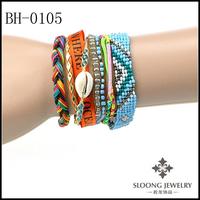 2014 Hot Sale Handmade Kintted Braid Brazilian Bracelets Magnetic Clasp Hipanema Bracelets 20pcs/lot Free Shipping