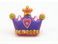 Prevent crash Modern  safe Hardware Soft safe Cartoon  environmental knob furniture knob crown children's room knob