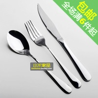 High quality stainless steel west tableware knife and fork spoon three pieces set exquisite 5 brief