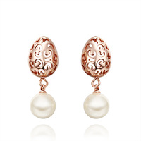 New Arrival 2014 Fashion Alloy Jewelry High Quality Austrian Crystal  Earrings 18KGP E526