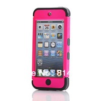 New 2013 Brand Heavy duty  TPU PC 3 in 1 Case Cover Skin For Apple iPod touch 5 5th Gen + Free Touch Pen