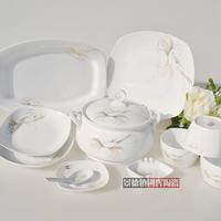 free shipping Avowedly 56pcs dinnerware set china porcelain tableware rice bowl set high quality plates dishes set