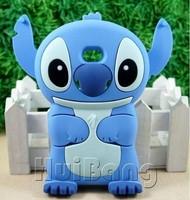 Free Shipping 3D Cute Cartoon Stitch Silicone Mobile Phone Cases Cover For LG Optimus L7 P705 L3 E400 L5 E610 E612 Defender Skin