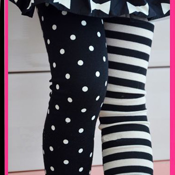Kids Girls Dance Pants Tights Polka Dot Stripe Trousers Render Pants 1-9Y XL207 Free shipping Drop shipping
