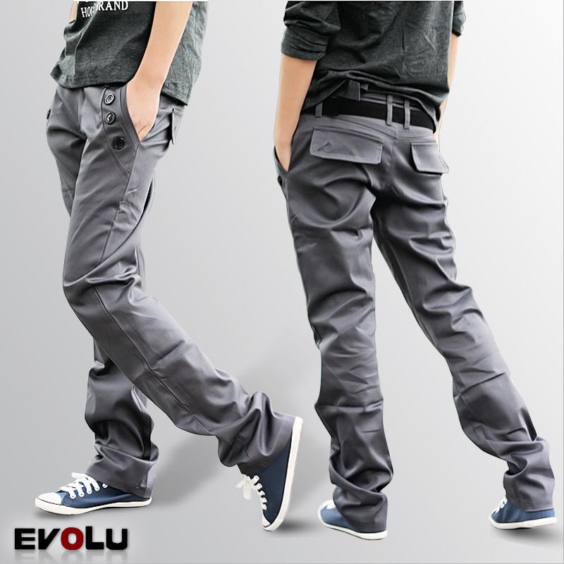 Nuovo 2014 autunno- estate hip hop fashion designer del brand casual scuro colore degli uomini jeans cargo tasche posteriori all'aperto a doppia cintura