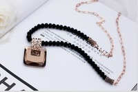 Retro Vintage hollow square crystal pendant necklace 2013 new fashion long necklace sweater chain gifts free shipping