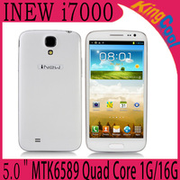 2013 NEW! Free shipping INEW i7000 MTK6589 Quad Core 1G RAM 16G ROM 5.0 inche HD 1280 x 720 Android 4.2. 3G Smart Phone