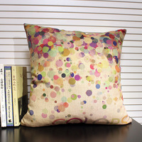 """Free shipping high quality linen invisible zipper vintage sofa cushion cover/pillow cover """"color""""45*45cm"""