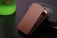 100% genuine Luxury Retro business Flip leather case for iphone 4 4S,High quality Lichee Pattern thin cover phone holster
