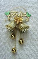 2013 New Happy Flower Embellished Christmas Bells YW11100910
