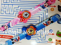 100pcs/lot! 2013 Hot Sale Minnie Mouse Slap Watch Cartoon Children Wristwatch Slicone Snap Watch G3067 on Sale Free Shipping