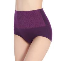 Autumn new arrival 2 panties female cotton 100% cotton high waist abdomen drawing butt-lifting decorative pattern female