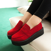 2014 Closed Toe Plain Seconds Kill Promotion Sapatos Femininos Creepers Tenis Masculino Sapatilhas Shoes Vintage Women's Single