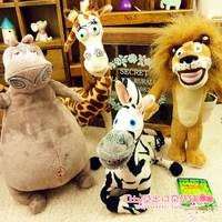 4pcs/lot Madagascar3 Giraffes plush toys lion soft toy Stuffed animal classic cartoon plush doll kid birthday gift free shipping