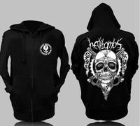 hellbombs skull death metal rock band HARDCORE Street Yi ghost step dance big hoodie sweater