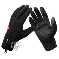 Windstopper looply outdoor sports skiing ride full finger gloves cold thermal
