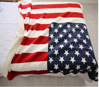 H0202 New Fashion Quality Printing American Flag Blanket Home Travel Bed Throw 160x130cm 100% Polyester Thick Soft Free Shipping