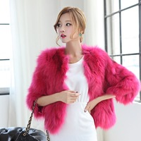 The new limited edition of high quality 2013 fox fur wool o-neck full leather fox fur coat 7 female