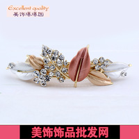 Accessories rhinestone Large clip,horseshoers hair pin,hairpin,Leaf Hair Clip,Free shipping