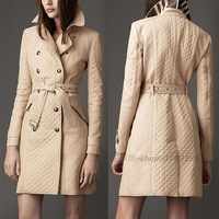 2013 slim medium-long Overcoats plus size fashion cotton-padded jacket Women outerwear coats High Quality jackets