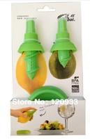 Free shipping 2set/lot  Kitchen Gadget Stem Citrus Spritzer Fruit Sprayer -Green Color