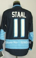 Free Shipping #11 Staal Winter Classic Men's Ice Hockey Jersey,Embroidery and Sewing logos,Size M--3XL