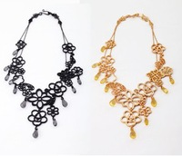 Western style High-end alloy flower women necklaces Wholesale Fashion necklaces for women 2013 color can choose