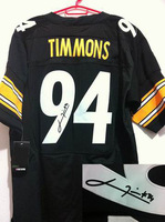 American Pittsburgh Football Jerseys Elite Men's Signature 94 Lawrence Timmons Free Shipping, Logos And Numbers Sewn, Size 40-56