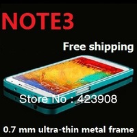 NEW!!!Note 3 0.7mm Ultra-thin Metal Frame Bumper Case for Samsung Galaxy Note 3 iii N9000+Free shipping