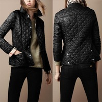 Free Shipping 2013 Hot new coveredbuttons ! elegant cotton-padded Overcoats small wadded jacket High Quality Coat