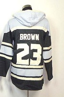 Wholesale Los Angeles #23 Dustin Brown hoody men's Ice Hockey Jersey Embroidery logos size 48-56