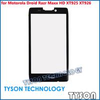 Front Glass for Motorola Droid Razr Maxx HD XT925 XT926 5pcs/lot Free Shipping