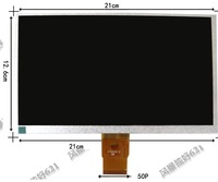 9inch 800*480 lcd calendar 50p short cable screen yx0900725-fpc emblly