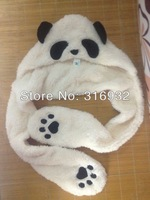 J4 Fancy Costume Fashion Panda Plush winter animal Hat scarf Gloves free shipping