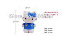 Free Shipping 3D 8GB Hello Kitty USB Flash Drive, Cute Hello Kitty USB Memory Stick 8GB, Lovely 8GB Hello Kitty Pen Drive