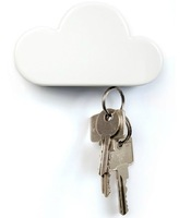 Free shipping 1Piece Cool Cloud-Shaped Magnetic Key Holder / Cloud Key Holder / Cloud Key Chain