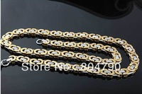 New 10MM Bold & Heavy 316L Stainless Steel Gold & Silver fashion cool classic Man's link Chain Necklace 6pcs/lot