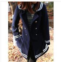 winter Japanese style lovely pea coats women