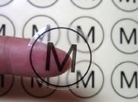 free shipping,S M L XL kraft paper background transparent self adhesive clear PVC size sticker,size labels1000pcs 1inch diameter