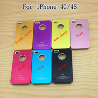 50Pcs/lot Air Jacket Aluminum case for iPhone 4 4s 4g Luxury Metal hard back cover aluminium,WholeSale Price Free Shipping