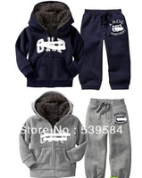 SHT209 Hot Boys and girls popular suit warm in winter Children's sets Thick long-sleeved cashmere suit