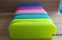 silicone female candy color purse zipper silicone coin women purse mobile phone bag free shipping